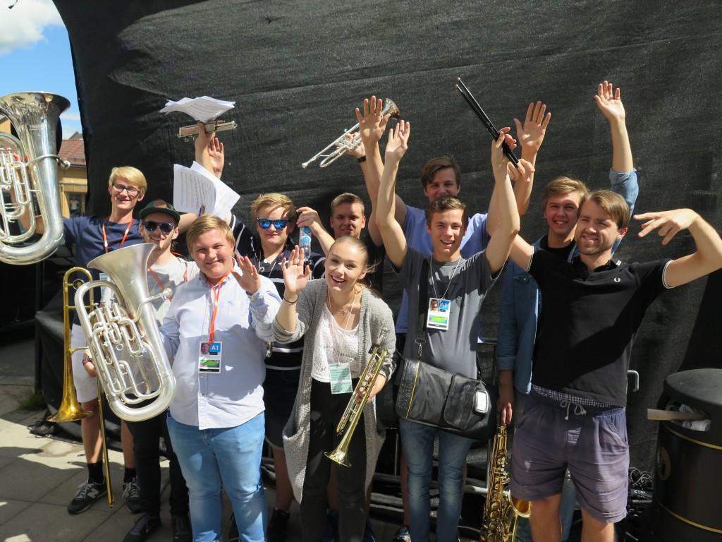 Topp stemning etter konsert på Kongsberg jazzfestival 2016. Foto: KG Jacobsen