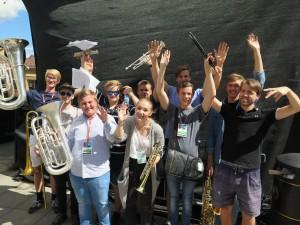 Topp stemning etter BUVUS sin konsert på Kongsberg jazzfestival i sommer. Foto: KG Jacobsen