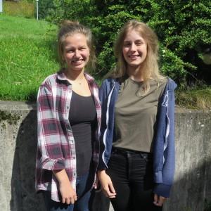 Marit Elise Solbø og Martine Engebakken Berg er førstereis på storbandkurs.