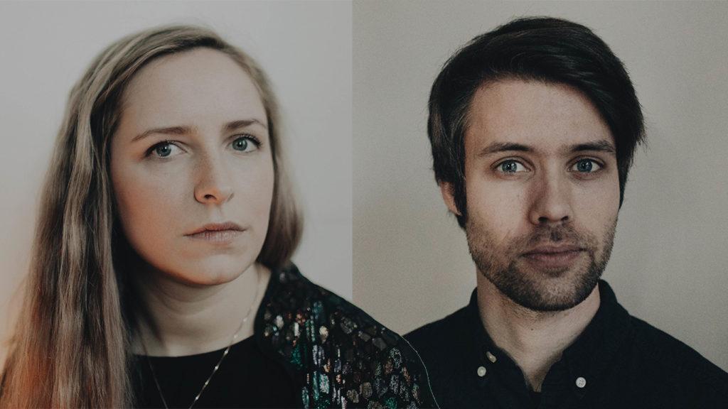 Camilla Hole og Johannes Fosse Solvang, foto: Malin Longva