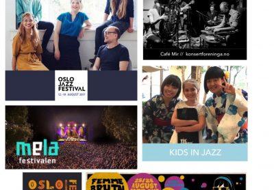 August = festivalbonanza i Oslo